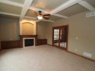 The optional French doors lead to a private office