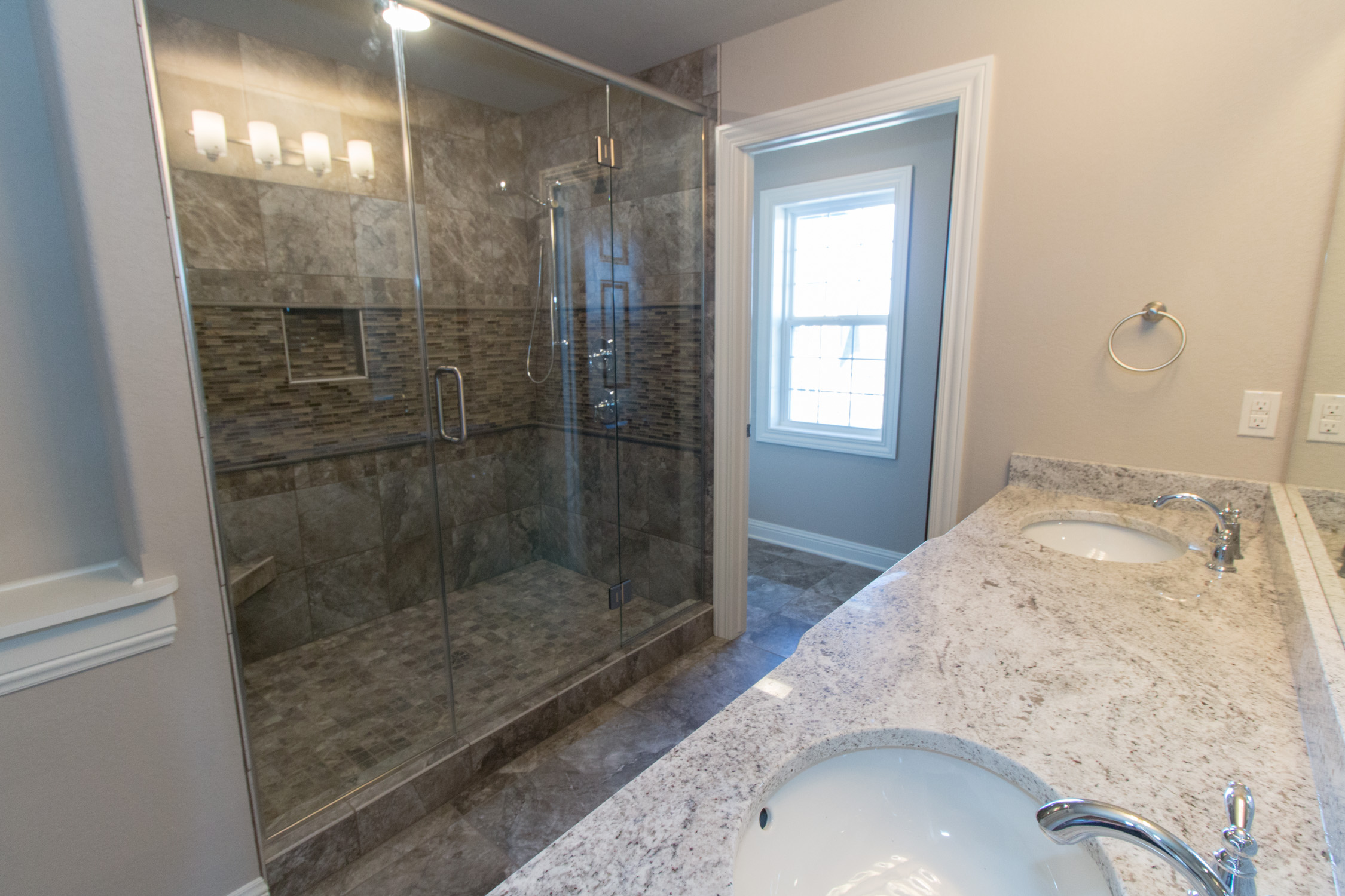 Master Bath with tiled shower