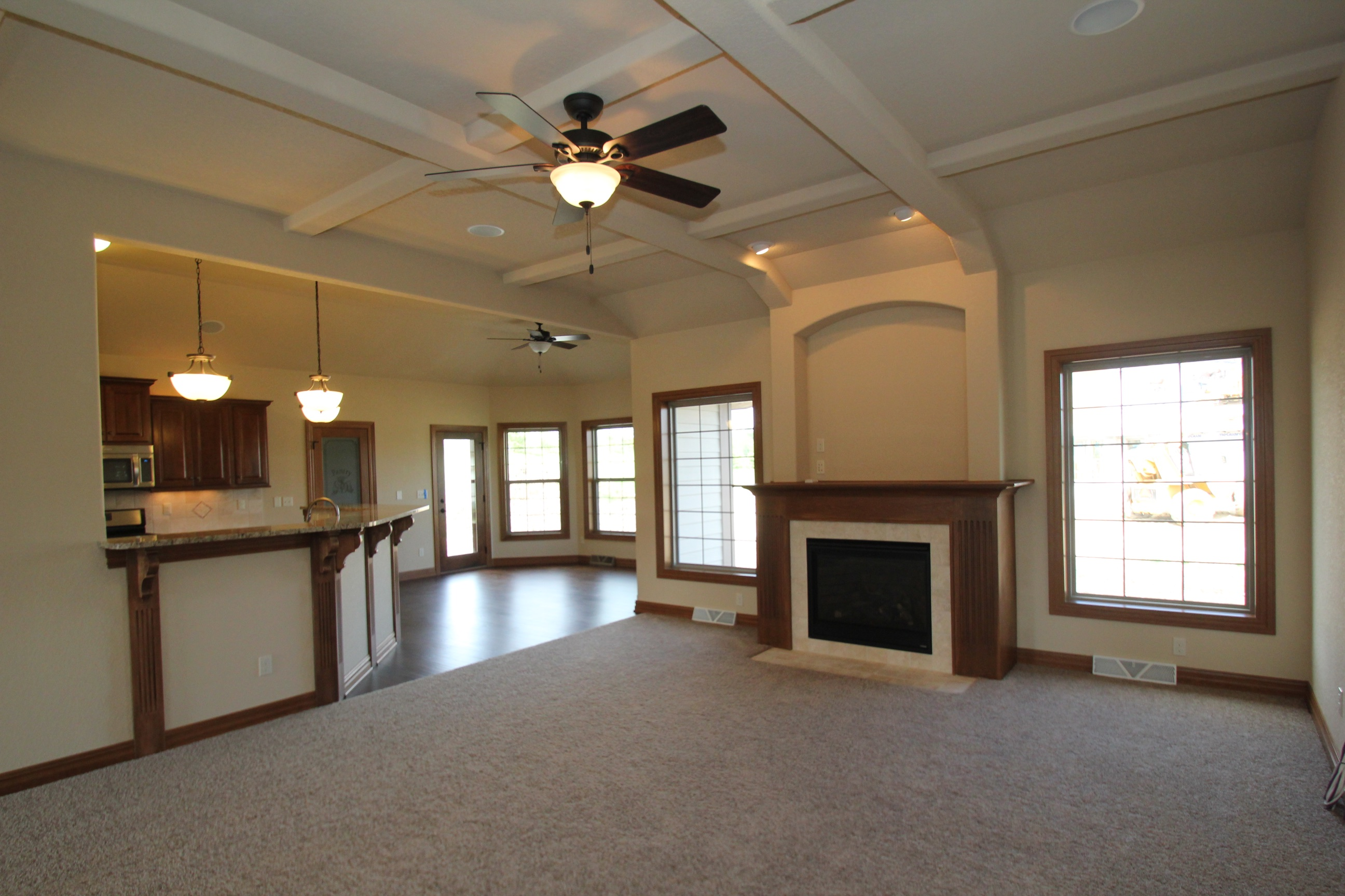 Great Room with Views into Kitchen and Dinette
