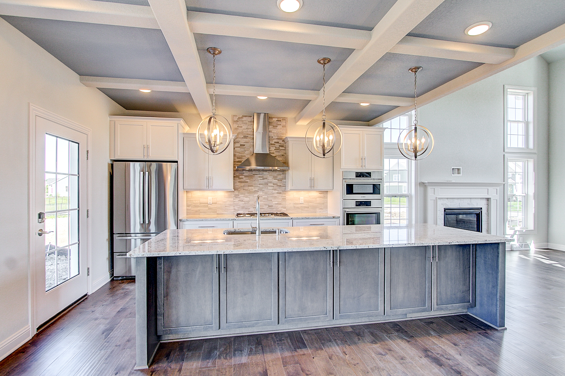 Kitchen Island with Clear Views into Great Room