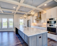 Gourmet Kitchen with Accent Ceiling