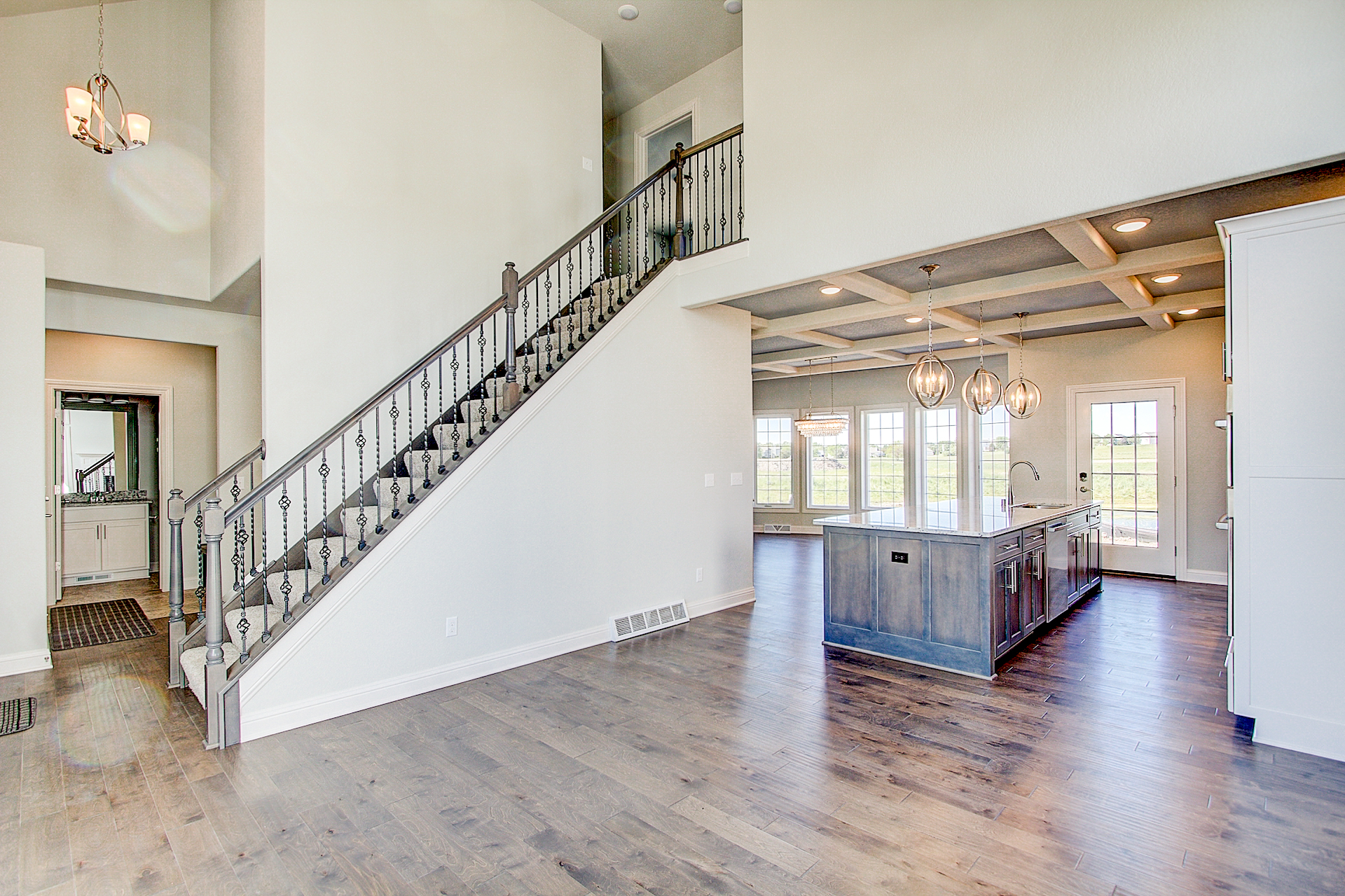 Staircase to Bedrooms/Views of Kitchen