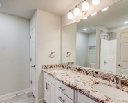 Bathroom with Dual Vanities