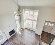 View of Entryway and 2-story Great Room from Staircase